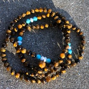 Beaded tigers eye bracelet